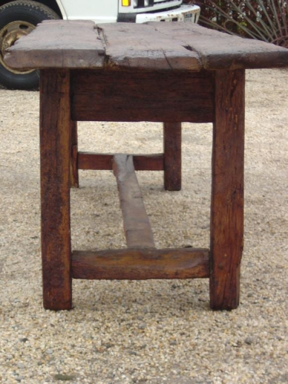 Rustic Italian Refractory Table At 1stdibs