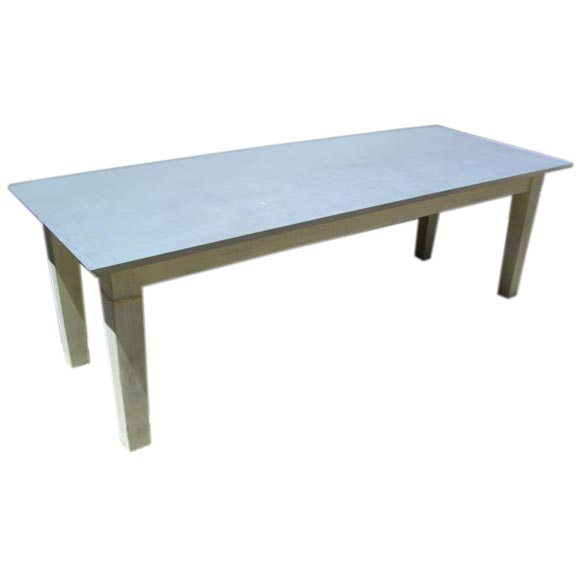 Zinc Topped Dining Table at 1stdibs : fntbfcust1z from www.1stdibs.com size 580 x 580 jpeg 11kB