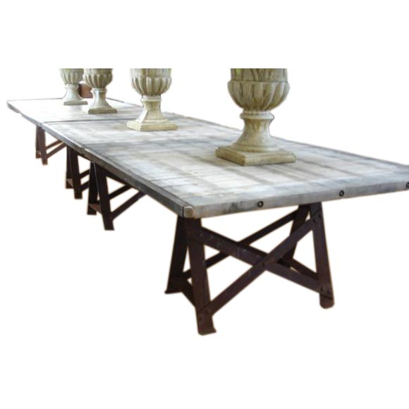 Brick curing pallet wood top dining tables at 1stdibs for Dining room tables the brick