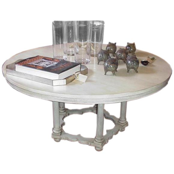 Weathered White Round Dining Table At 1stdibs