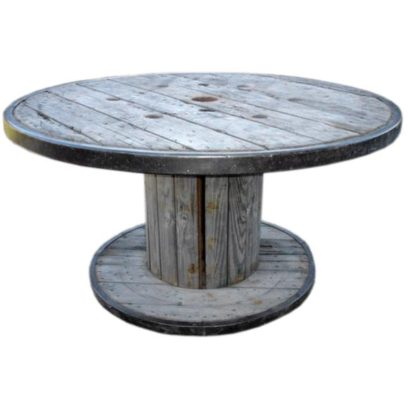 Round Belgian Spool Table At 1stdibs