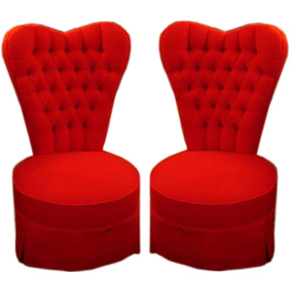 Shaped Chairs: Pair Of Heart Shaped Bedroom Chairs At 1stdibs