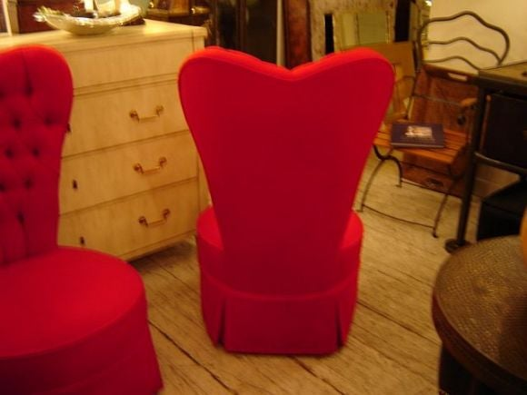 Pair of Heart Shaped Bedroom Chairs image 3