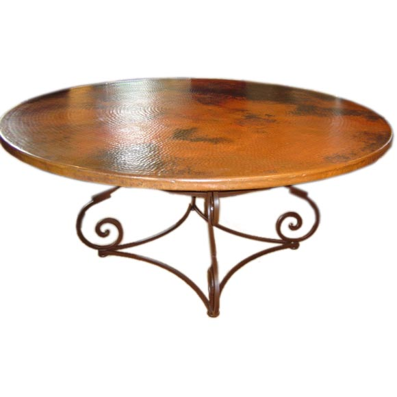 Hammered Copper Table At 1stdibs