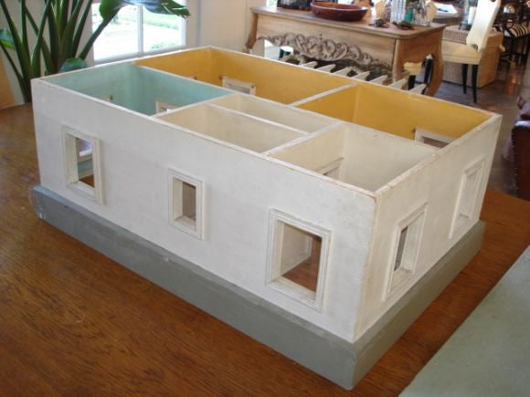 Vintage scale model of house at 1stdibs for Scale model furniture