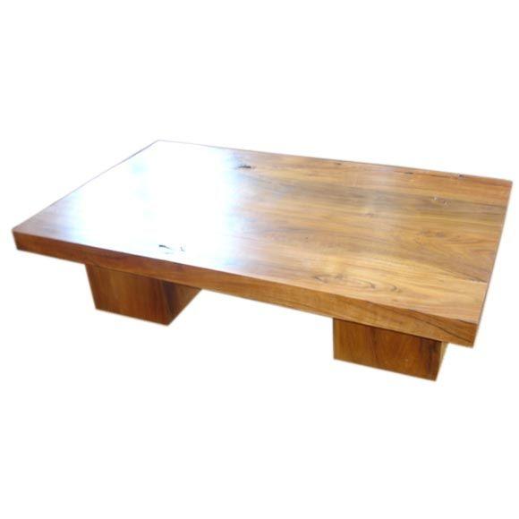 Acacia Wood Coffee Table At 1stdibs