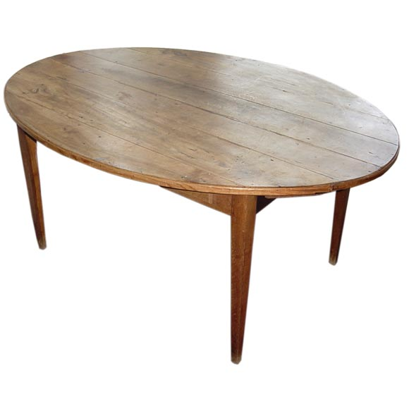 oval pine dining table at 1stdibs