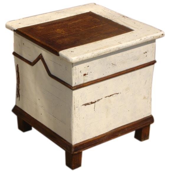french salt curing box side table at 1stdibs