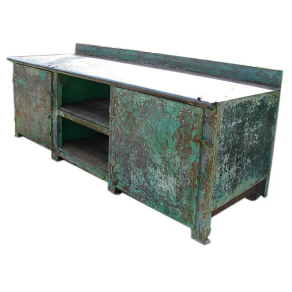 Antique French Painted Metal Kitchen Work Table At 1stdibs