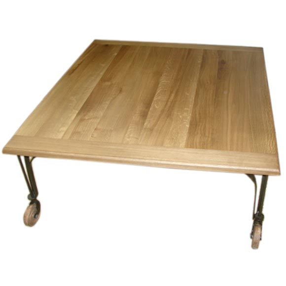 Coffee Table On Casters At 1stdibs