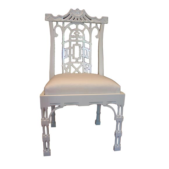 Reproduction Chinese Chippendale Dining Chair At 1stdibs