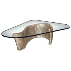 Bronze and Glass Coffee Table Designed by Craig Van Den Brulle