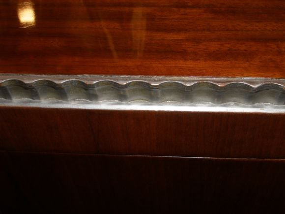 Robert W. Irwin  Walnut Dresser With Silver Leaf Details C. 1933 For Sale 1