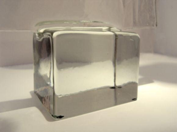 Italian Block Glass Sculpture by Alfredo Barbini For Sale