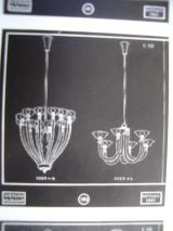 Documented 1941 Venini Brass and Pale Amber Glass Chandelier image 5