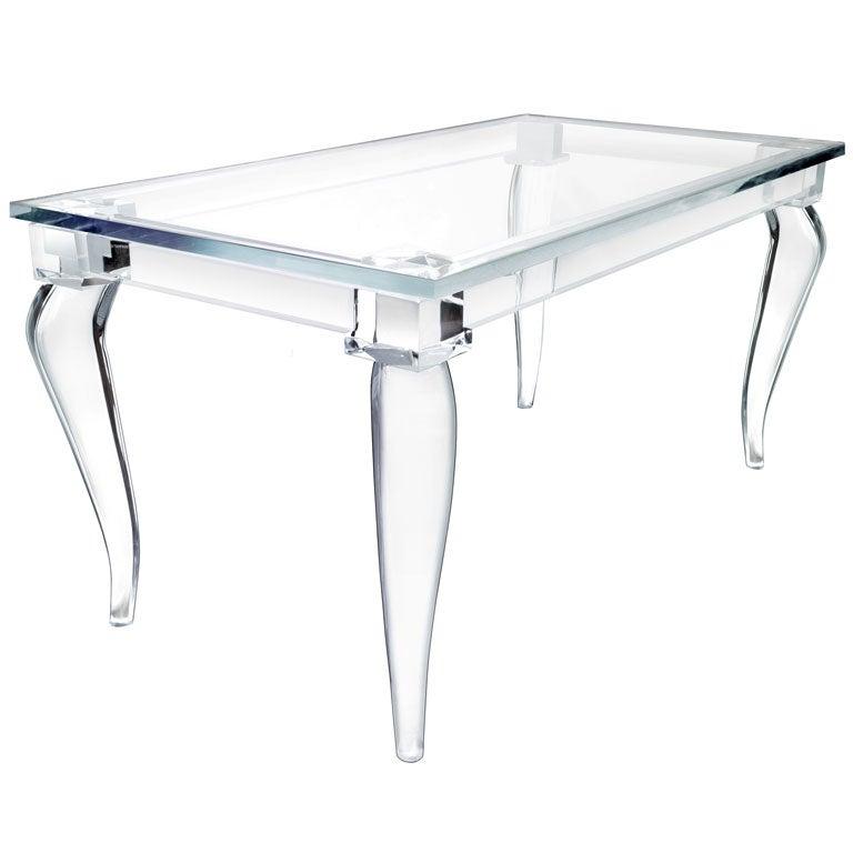 Crenelle Lucite Desk By Craig Van Den Brulle
