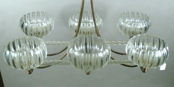 Mid-20th Century Mid Century Murano Glass Ceiling Fixture For Sale