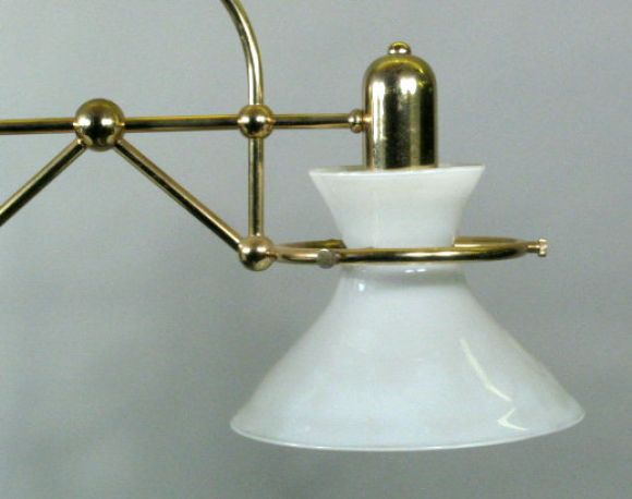 Milk Glass Bath Light: Two-Light Milk Glass Ceiling Fixture For Sale At 1stdibs