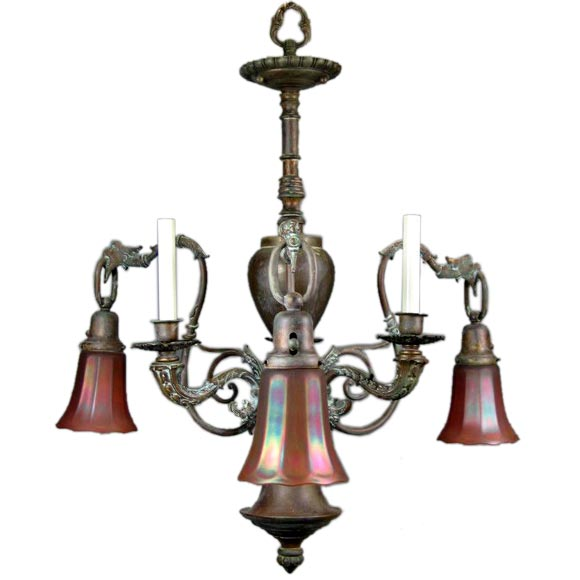 Converted 19th Century Gas Chandelier