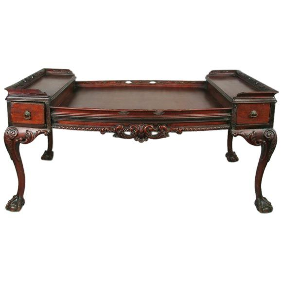 Circa 1900's Chippendale Style Coffee Table At 1stdibs