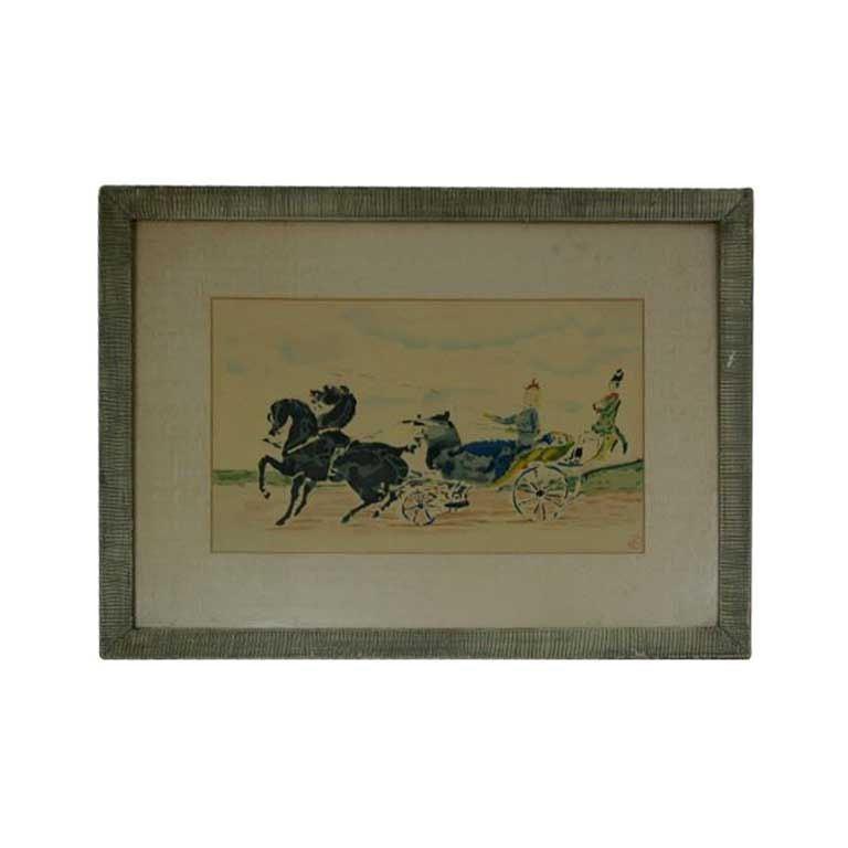 Original Lautrec Colored Lithograph For Sale