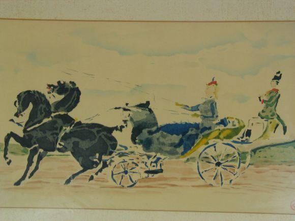 Mid-20th Century Original Lautrec Colored Lithograph For Sale