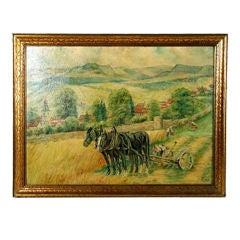 Eastern European Farm scene