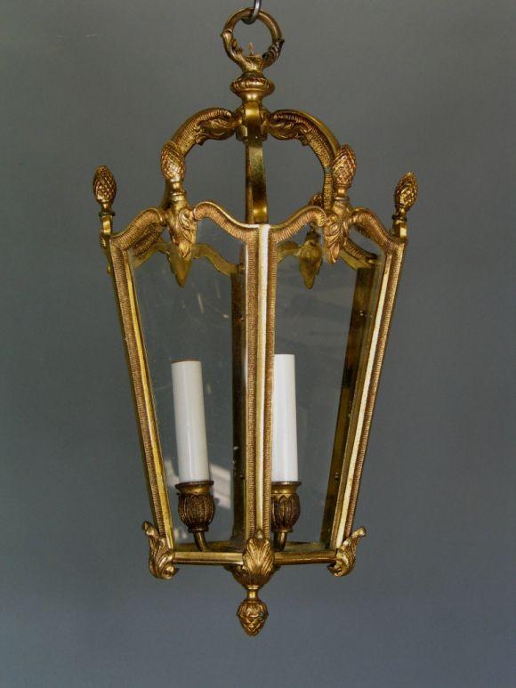 #1-1177a bronze French lantern.
