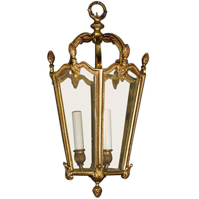 Bronze Lantern, circa 1940s For Sale