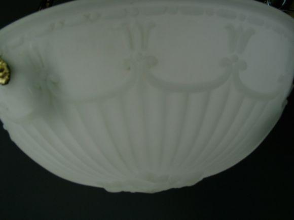 American Cast Opaline Glass Dome, circa 1910s For Sale