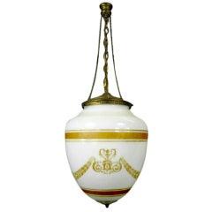 Neoclassic Glass Pendant