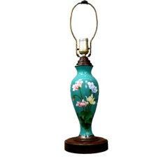 1920's Japanese Cloissone Lamp