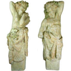 ON SALE Neoclassical Plaster Wall Figures, circa 1920s