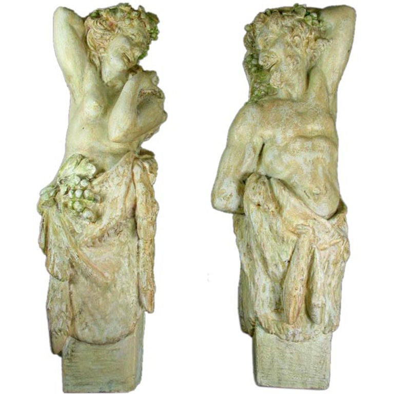 Neoclassical Plaster Wall Figures, circa 1920s For Sale