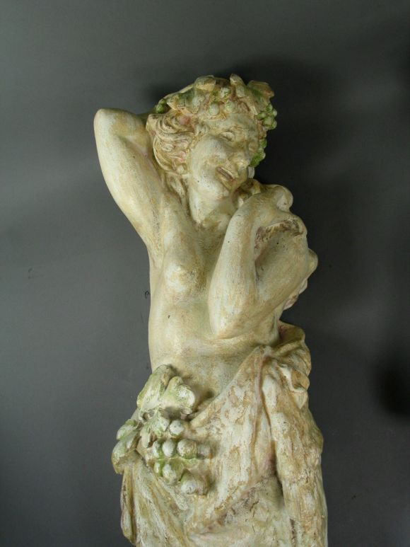 Italian  Neoclassical Plaster Wall Figures, circa 1920s For Sale