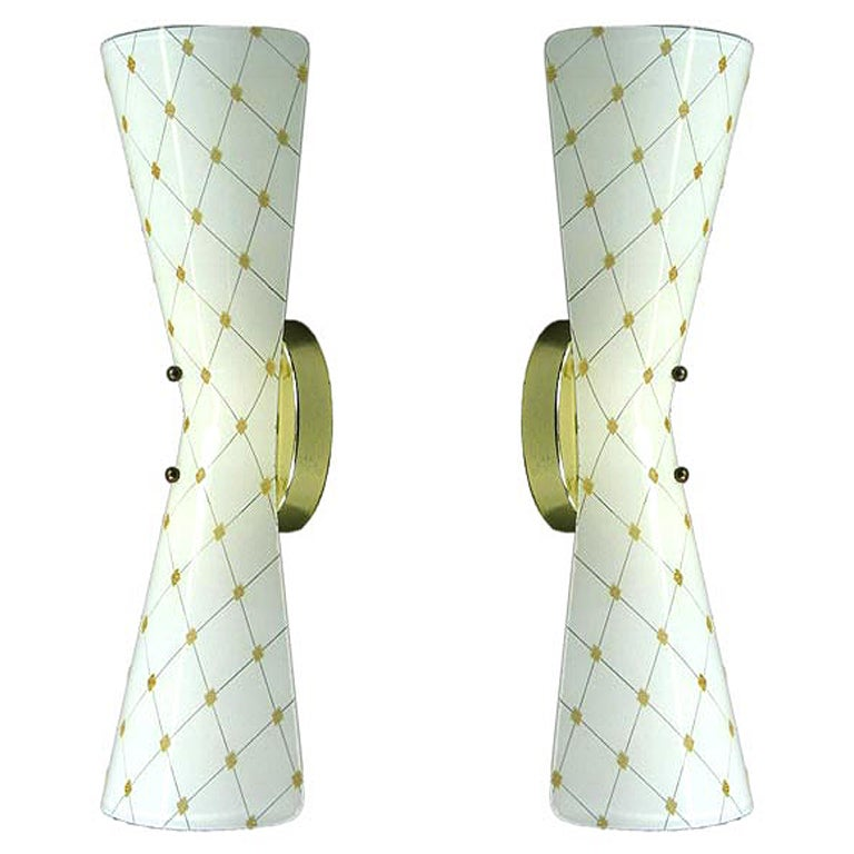 Pair Bowtie Sconces At 1stdibs