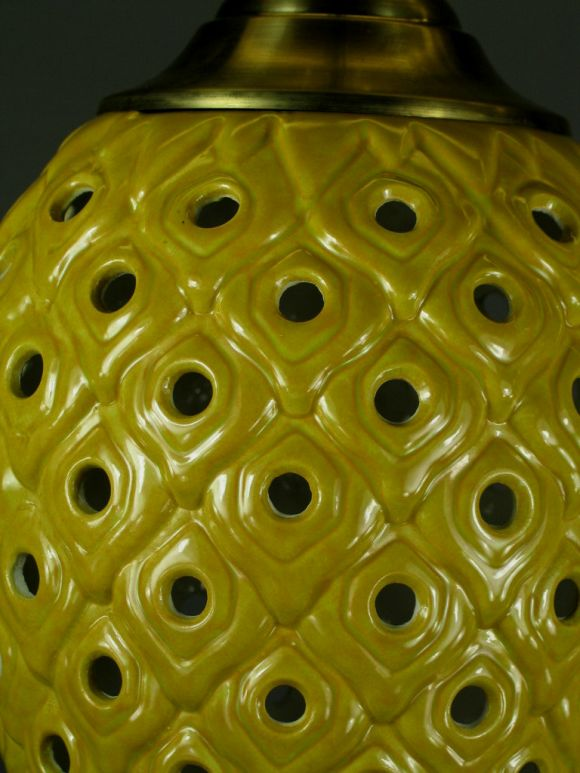 Ceramic Pineapple Pendant(2available) 4