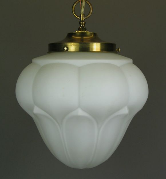 #1-1462, frosted glass pendant. Takes one Edison based bulb 100 watt max.