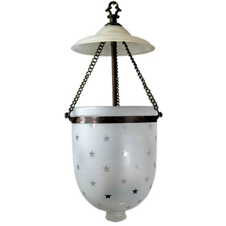 Star Detailed Frosted Glass Bell Jar 2 Available At 1stdibs