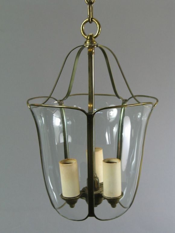 Mid-20th Century Bent and Curved Glass Lanterns, circa 1940s For Sale