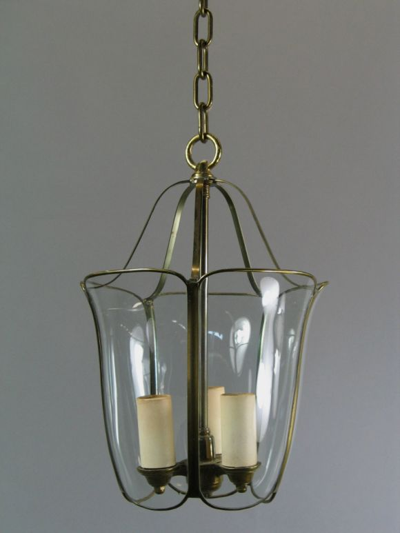 Bent and Curved Glass Lanterns, circa 1940s In Good Condition For Sale In Douglas Manor, NY