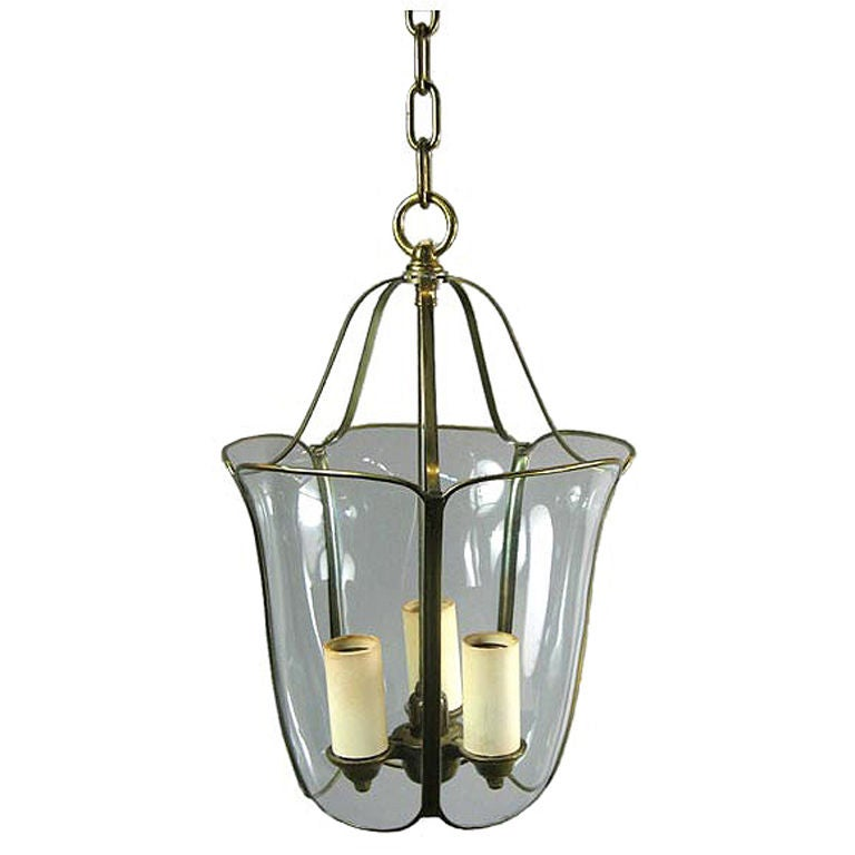 Bent and Curved Glass Lanterns, circa 1940s For Sale