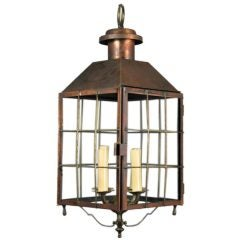 Large Copper and Brass Lantern