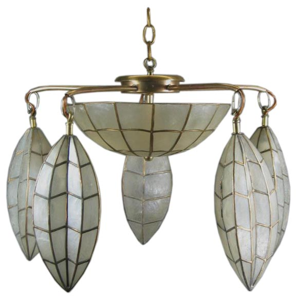 this circa 1950 39 s large capiz shell fixture is no longer available. Black Bedroom Furniture Sets. Home Design Ideas