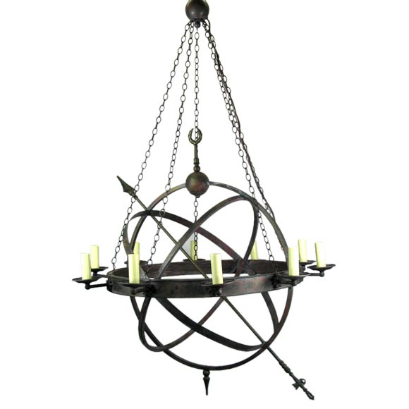 Large armillary chandelier at 1stdibs large armillary chandelier for sale mozeypictures Images