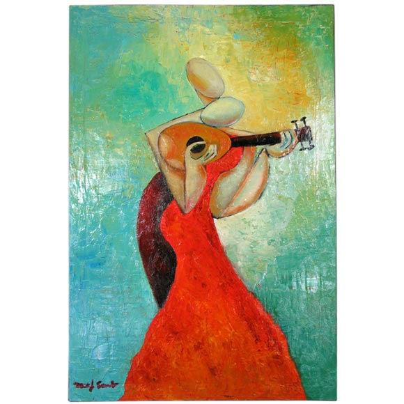 """Pasion De La Musica""  Abstract Oil Painting"