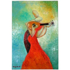 """Pasion De La Musica""  Abstract Oil Painting"