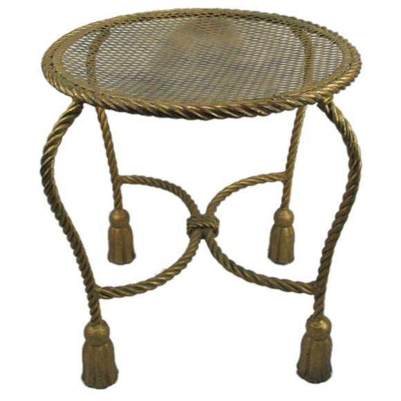 Rope Gilded Table Bench At 1stdibs