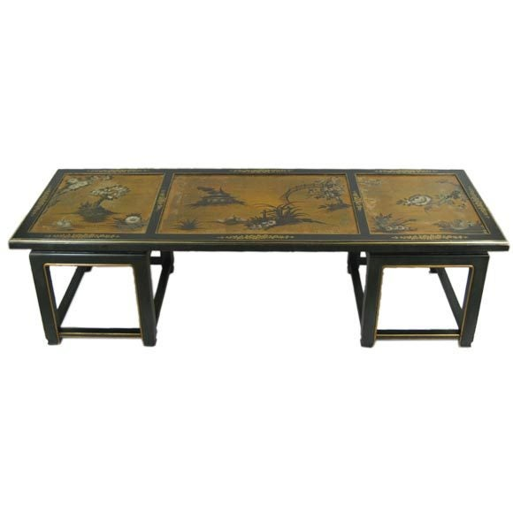 Hand Painted Chinoiserie Coffee Table At 1stdibs