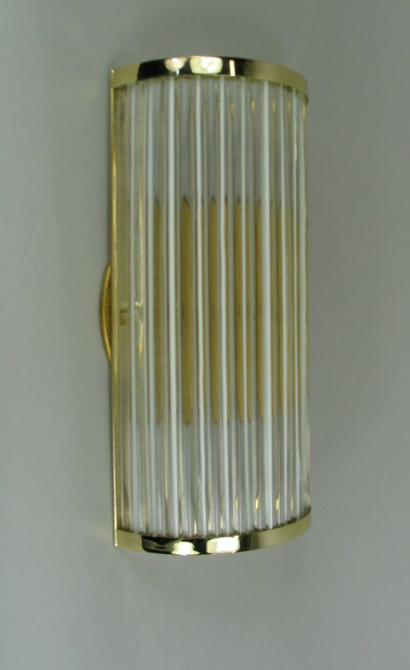 Pair Rod Glass Sconces At 1stdibs